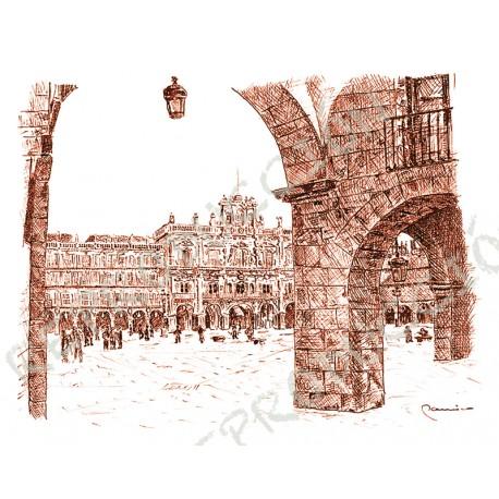 Plaza Mayor desde el Corrillo.  Salamanca