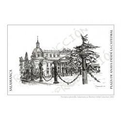 Colección postales plumilla de Salamanca
