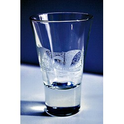 Vaso agua grabado