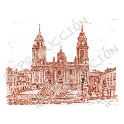 Catedral, ...dende a muralla. Lugo.