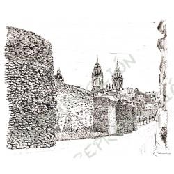 Muralla, ...máis a Catedral