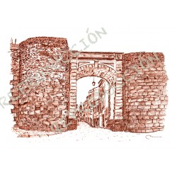 Muralla, a Porta da rúa Nova. Lugo.